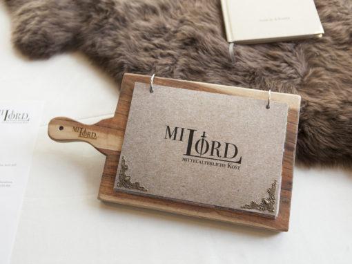 "Mittelalter-Restaurant ""Milord"", Konzept, CI, Editorial Design, Webdesign"
