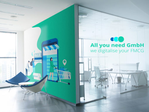 """All you need"" Agency, Form- & Farbwelt, Webdesign"